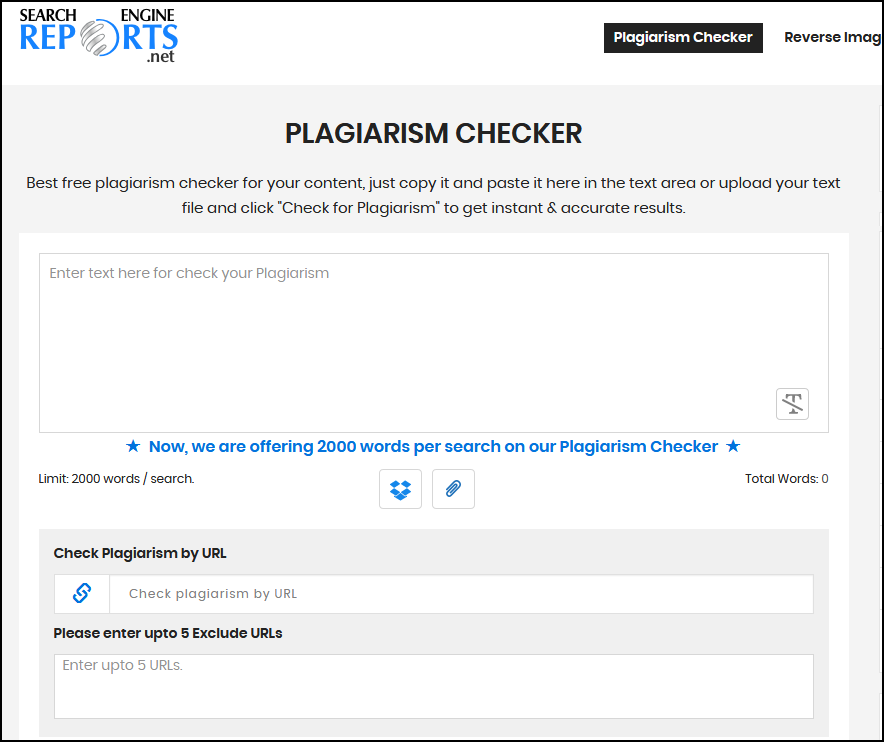 Searchenginereport Plagiarism Checker