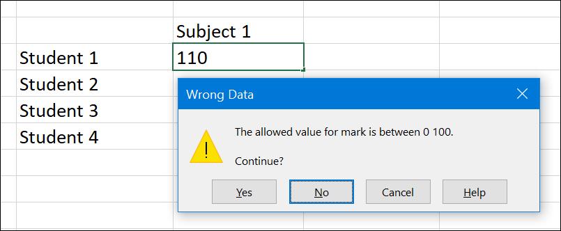 Warning Error Alert