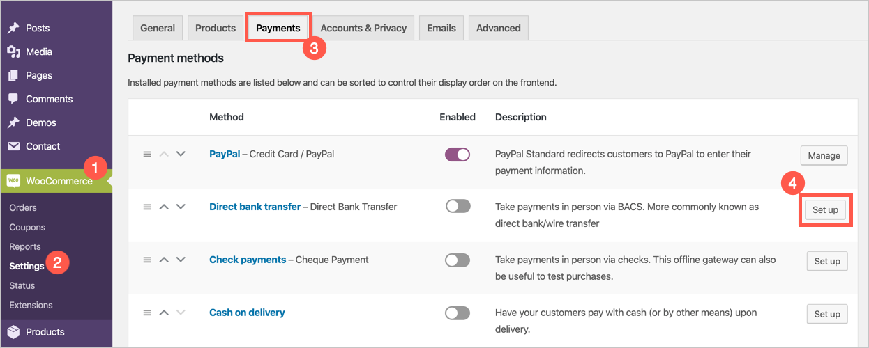 WooCommerce Payment Option