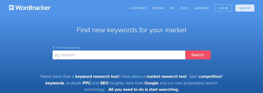 Wordtracker Free Keyword Research