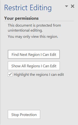 Content Edit Restriction