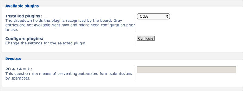 Select Q&A Plugin Captcha