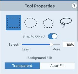 Selection Tool Properties