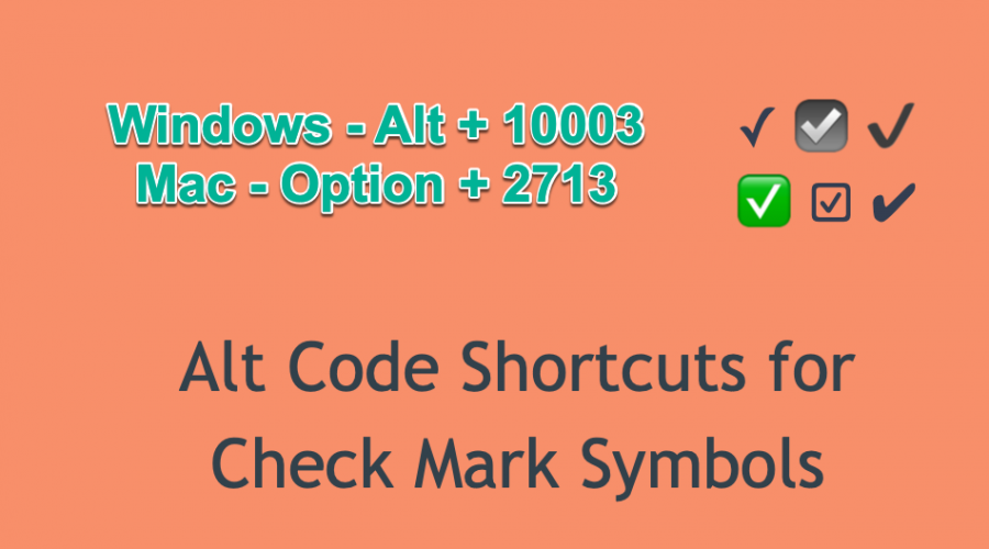 6 Ways to Insert Tick or Check Mark Symbol
