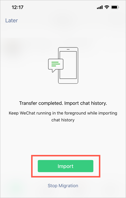Import Chat History on New Device