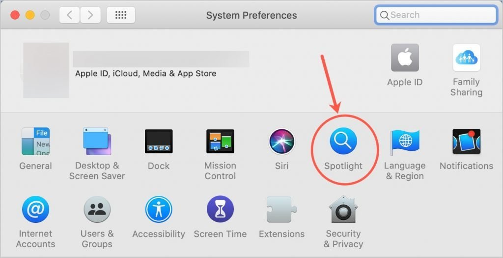 Open Spotlight Preferences