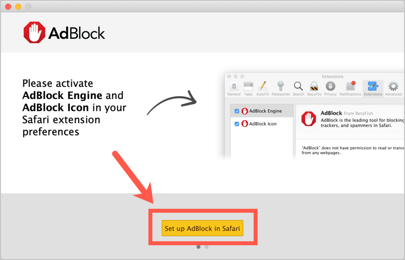 Add Ad Blocker in Safari Mac