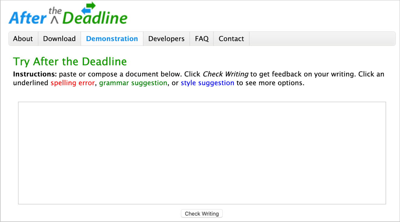 After The Deadline Tool