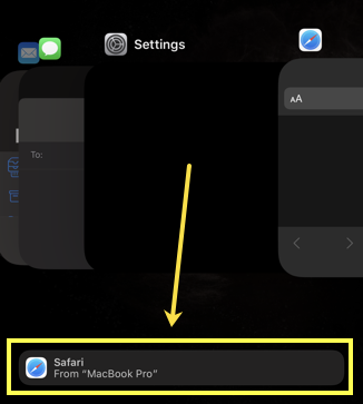 Chrome Tab in iPhone App Switcher
