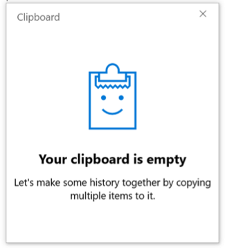 Clipboard History is Active