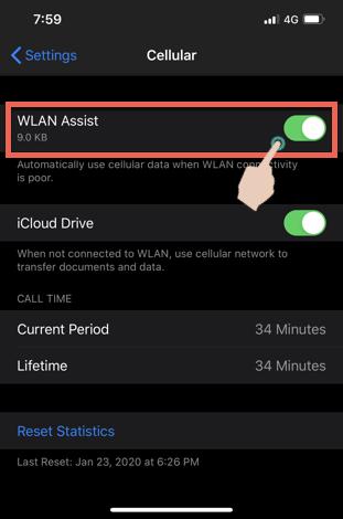 Disable WLAN Assist