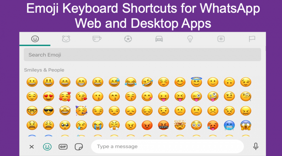 Emoji Shortcuts for WhatsApp Web and Desktop