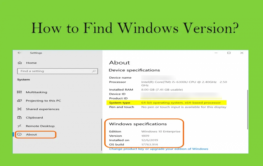 How to Find Version in Windows?