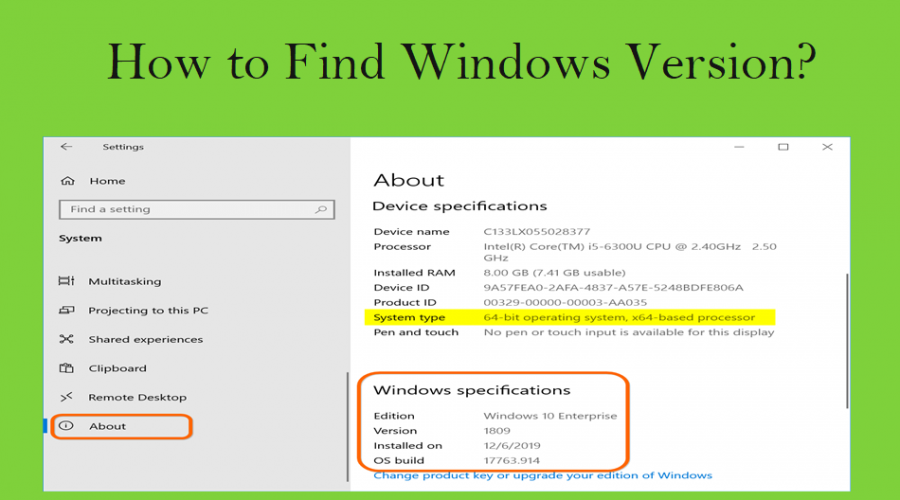 How to Find Windows Version on Your Computer?