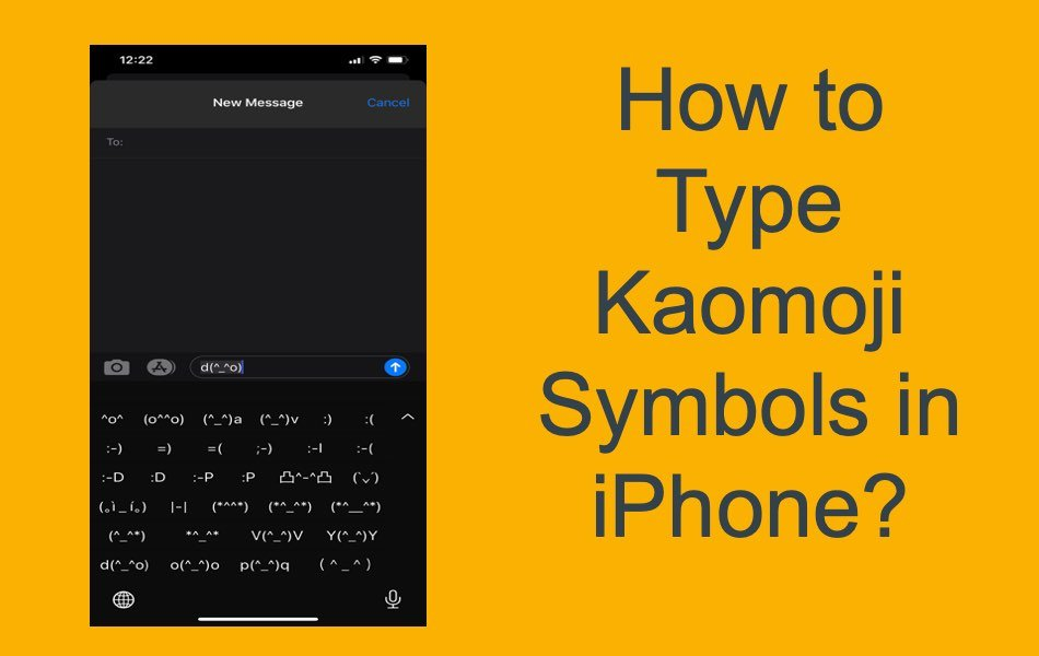 How to Type Kaomoji Symbols in iPhone?