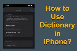 How to Use Dictionary in iPhone?