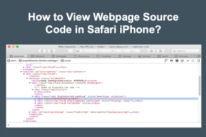 How to View Webpage Source Code in Safari iPhone
