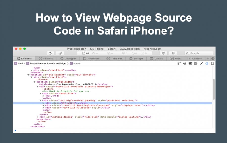 How to View Source Code of Webpages in Safari iPhone on Mac?