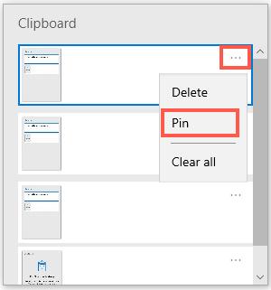 Pin Item in Latest Windows 10