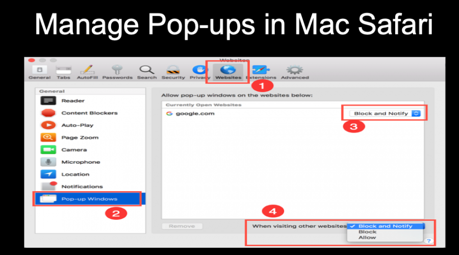 How to Block Pop-ups in Safari Browser on Mac?