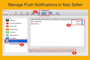 Manage Push Notifications in Mac Safari