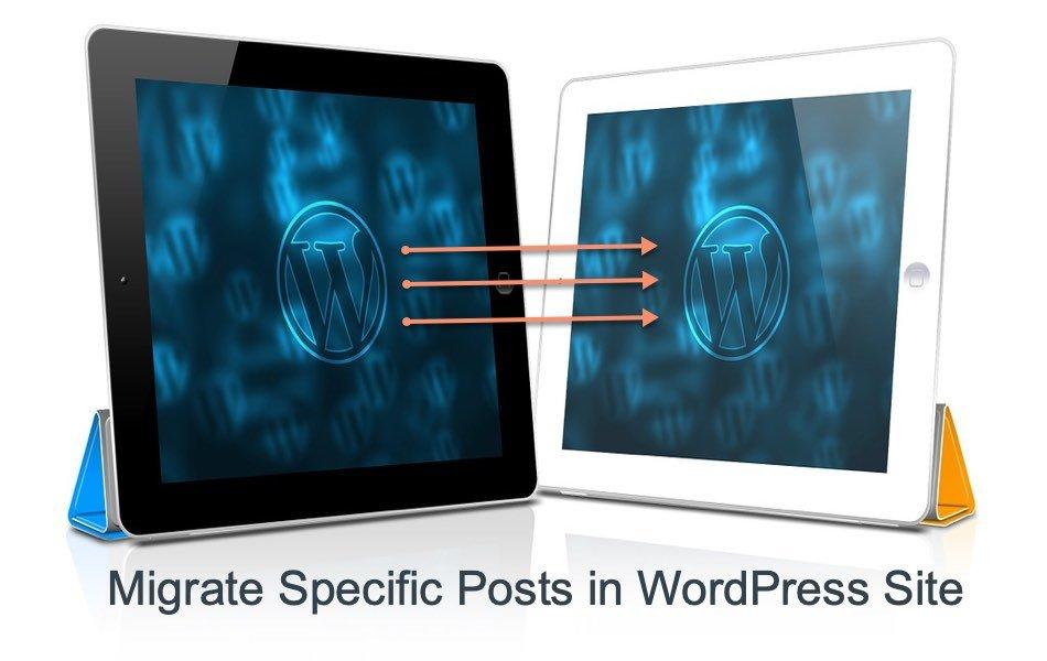 Migrate Specific Posts in WordPress Site
