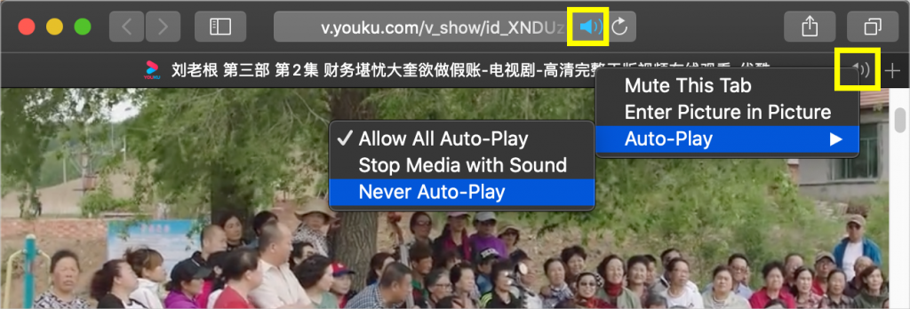 Mute Audio and Autoplay in Safari
