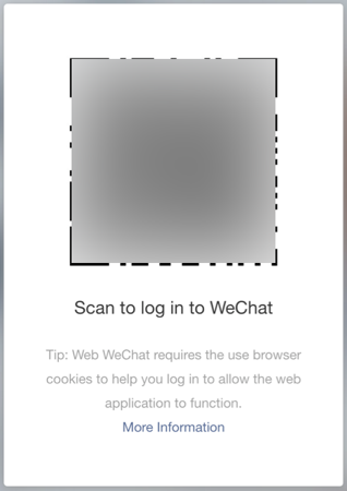 Scan QR Code for WeChat Web Access