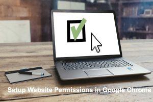Setup Website Permissions in Google Chrome