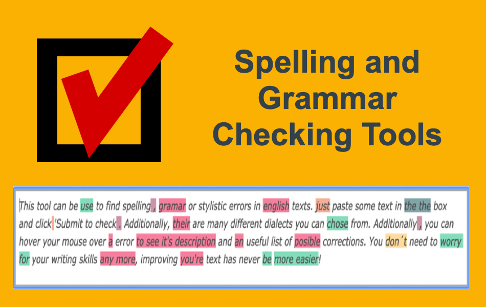 Spelling and Grammar Checking Tools