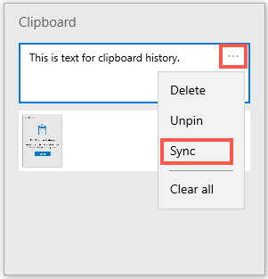 Sync Individual Text Item