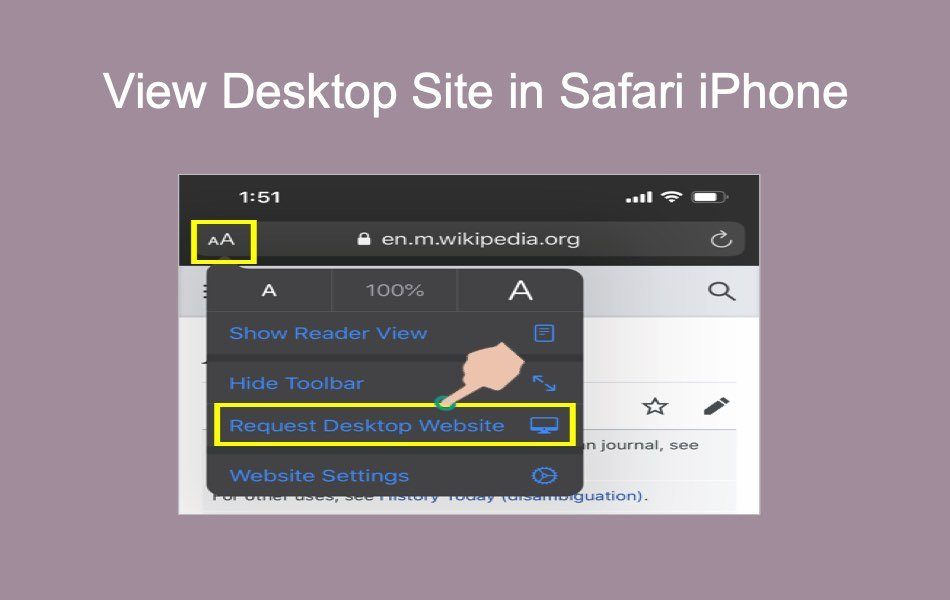 View Desktop Site in Safari iPhone