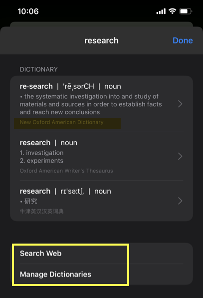 View Meaning from Dictionary