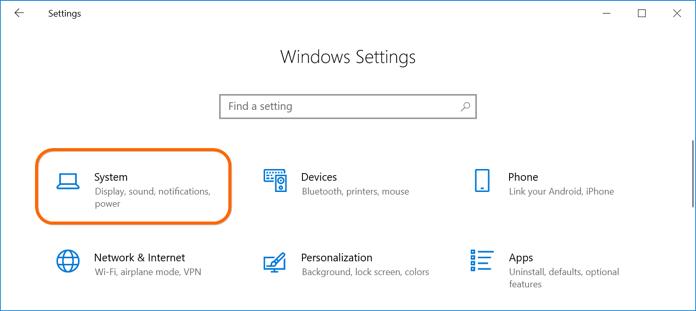 Windows Settings App