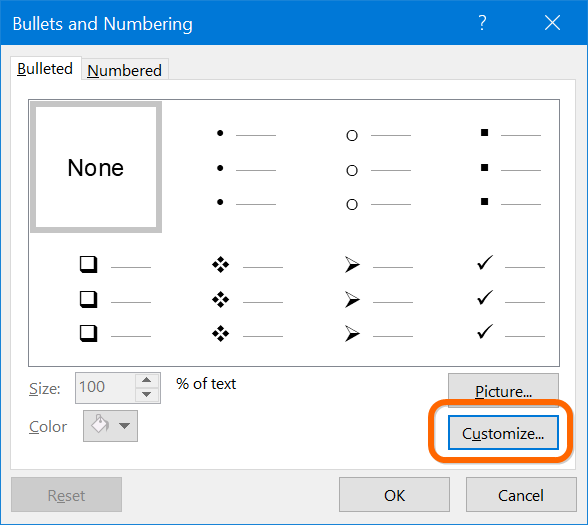 Customize Bullets in PowerPoint
