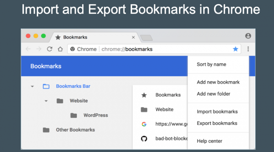 How to Import and Export Bookmarks in Google Chrome?