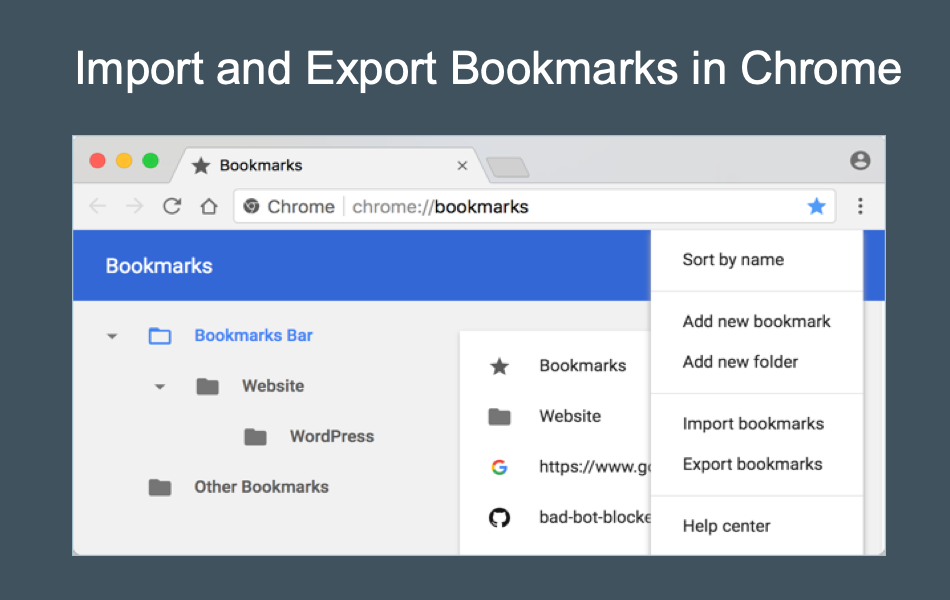 Import and Export Bookmarks in Chrome
