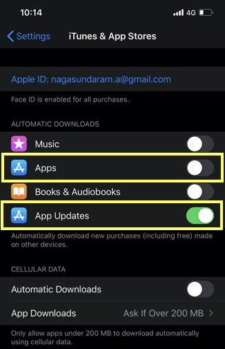 Manage Auto App Updates