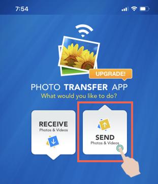 Select Send Option