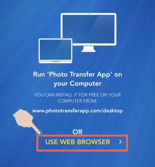 Select Web Browser Option