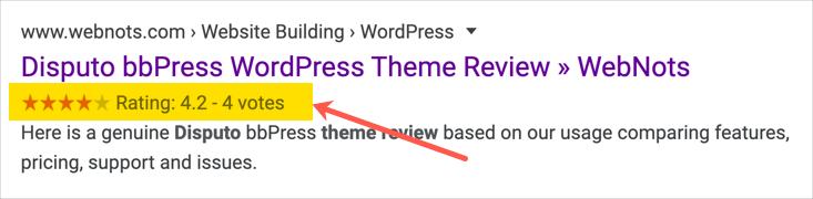 Рейтинг отзывов в Google Поиске