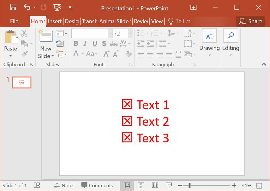 Using Emoji as Bullet in PowerPoint