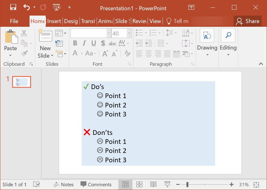 Using Emoji in PowerPoint