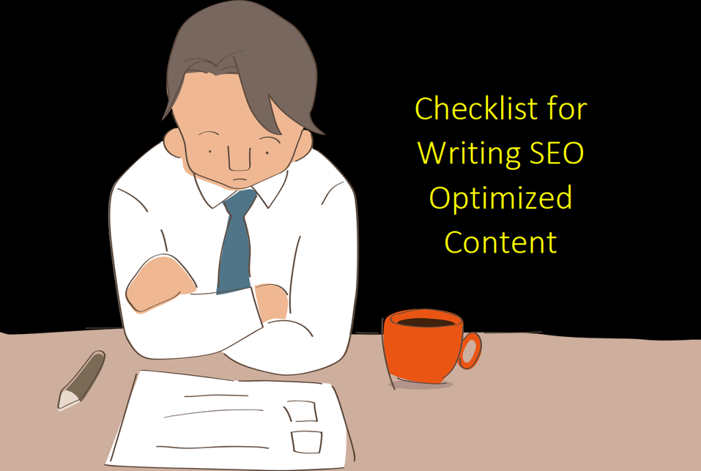 Checklist for Writing SEO Optimized Content