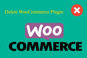 Delete WooCommerce Plugin