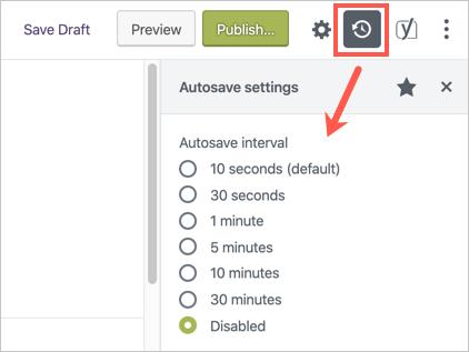 Disable Autosave in Gutenberg Editor
