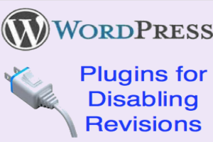 Disable Revisions in WordPress