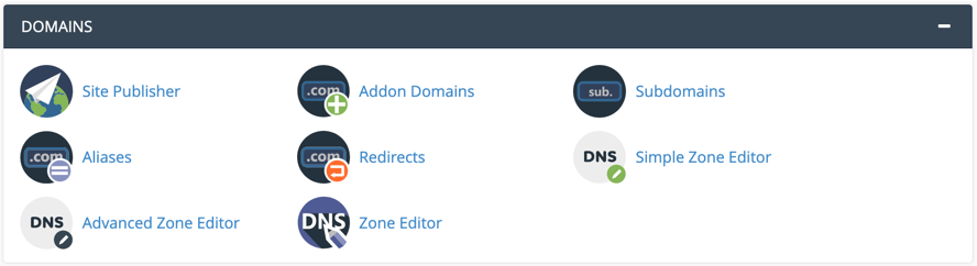 Domains Tools in cPanel