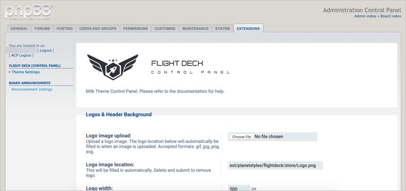 Flight Deck Control Panel