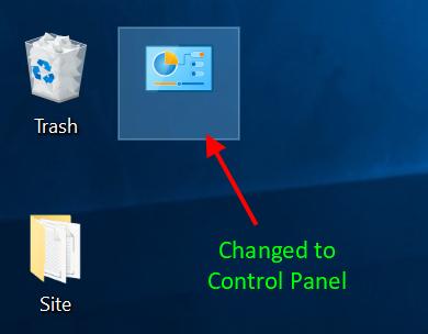 Folder Change to Control Panel